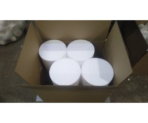 Цилиндры из пенопласта 19х8 см Кол-во 8 шт