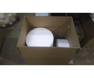 Цилиндры из пенопласта 24х9 см. Кол-во 4 шт