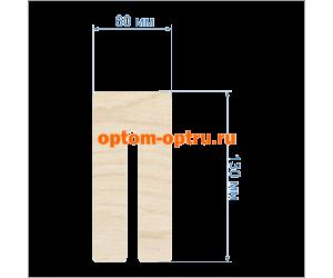 """Заготовка из фанеры 3 мм набор """"Шаблон для изготовления бантиков"""" 12 см. Кол-во 1 набор"""