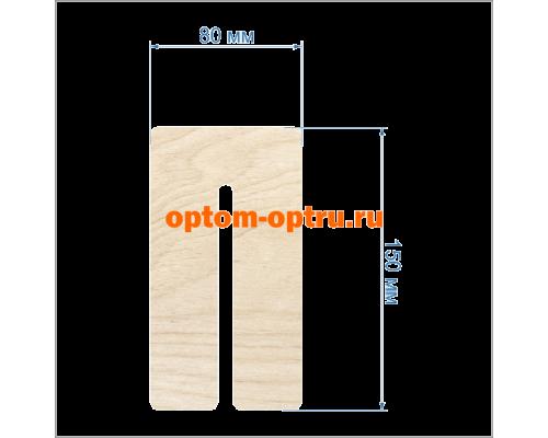 """Заготовка из фанеры 3 мм набор """"Шаблон для изготовления бантиков"""" 15 см. Кол-во 1 набор"""