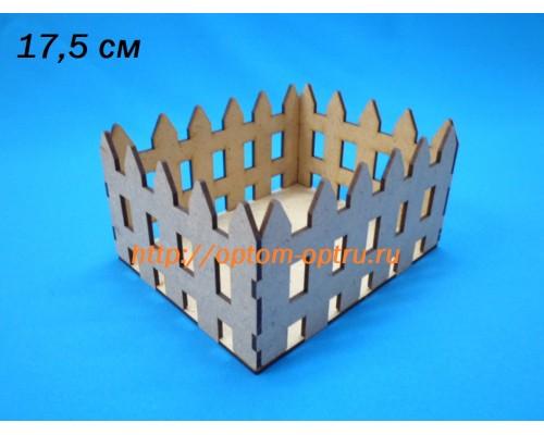 "Заготовка из ДВП 3 мм ""Корзинка-забор"" 17 см. (1 шт )"
