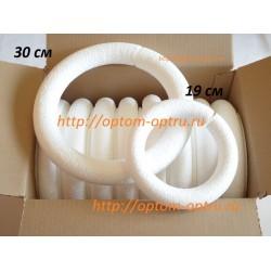 Набор колец из пенопласта (30 см 8 шт) и (19 см 10 шт).