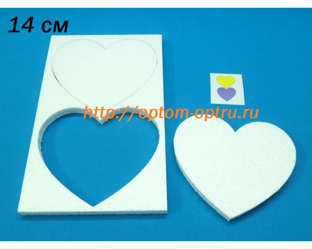 Сердце из пенопласта 14 см. ( 1 упк )