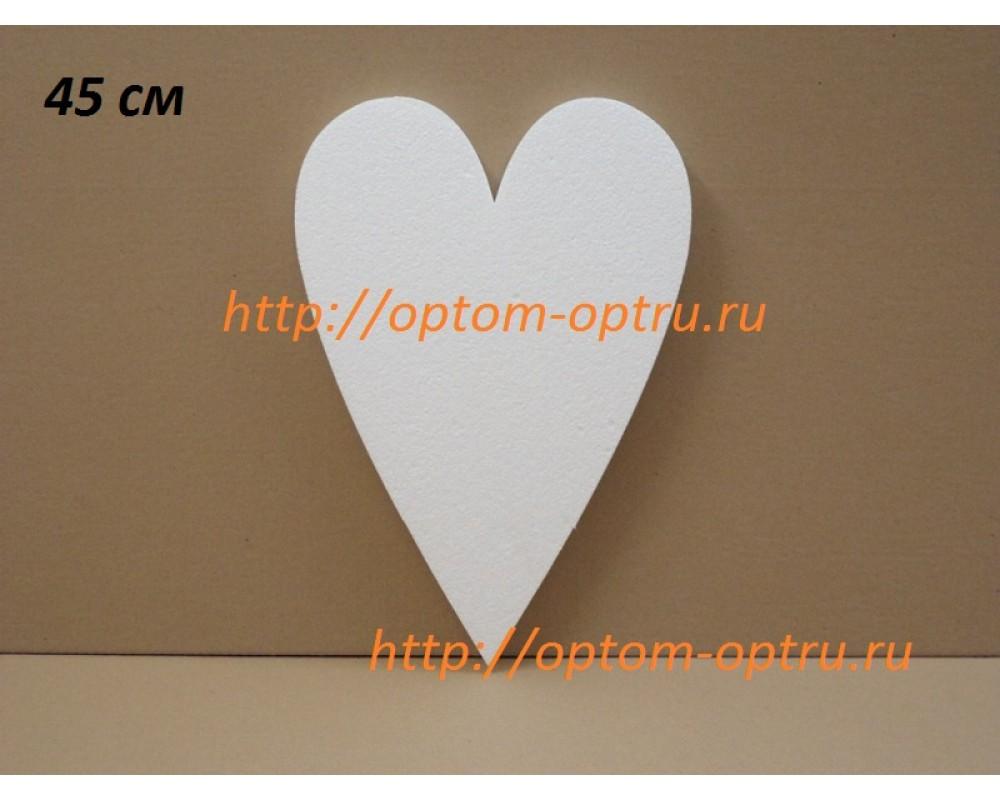 "Сердце из пенопласта "" Тильда 45 см х 35 мм. "" (1 упк. )"