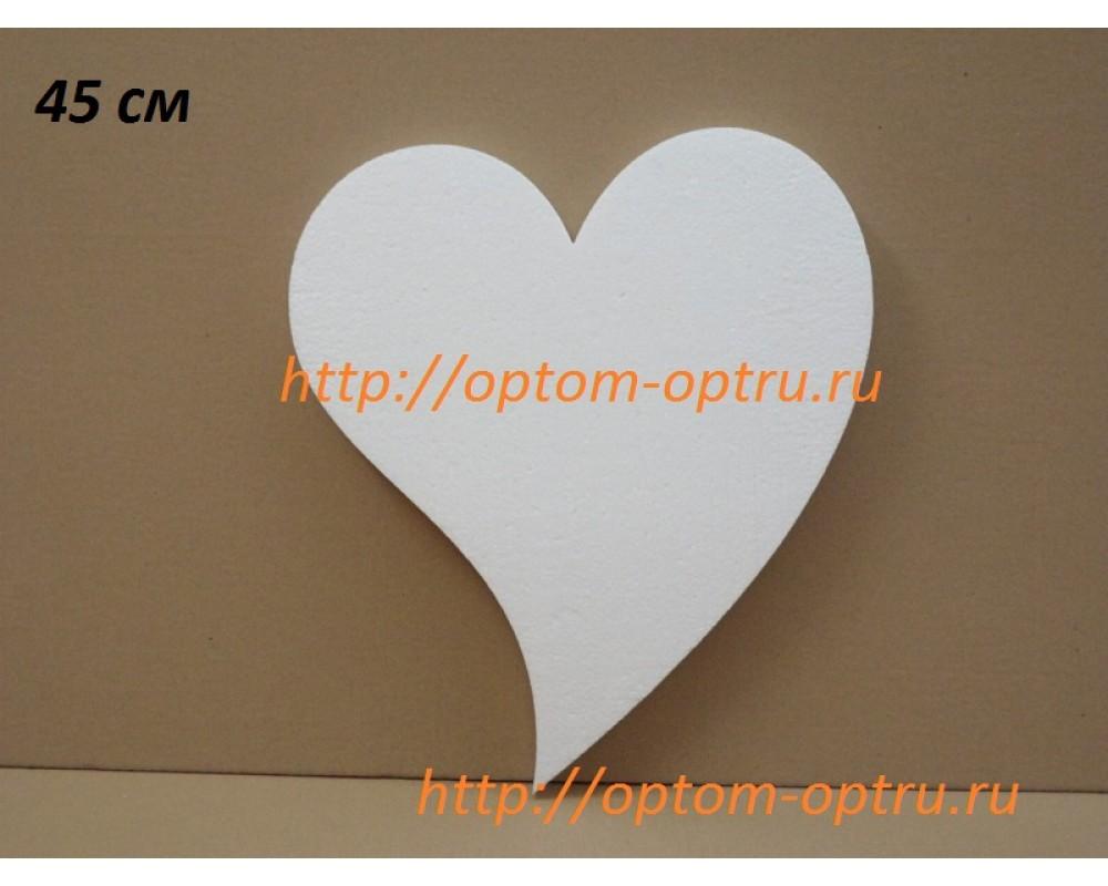 Сердце из пенопласта не симметричное 45 см. ( 1 шт. )