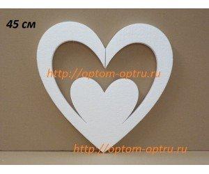 Сердце из пенопласта 45 см, ( 1 шт. )