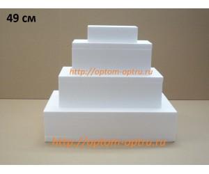 """Торт-муляж из Пенопласта """"Прямоугольник 49 см."""""""