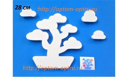 Дерево бонсай  из пенопласта 28 см ( 1 шт.)