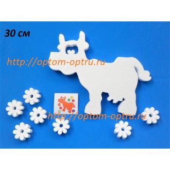Корова из пенопласта 30 см. ( 1 шт.)