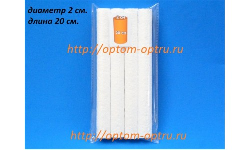 Цилиндры из пенопласта 2 см (длина 20 см) ( 1 упк )