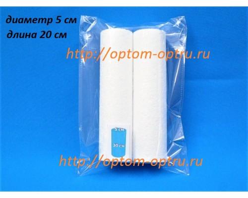 Цилиндры из пенопласта 5 см (длина 20 см). ( 1 упк )