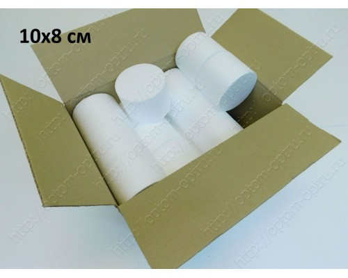 Цилиндры из пенопласта 10х8 см ( 21 шт ).