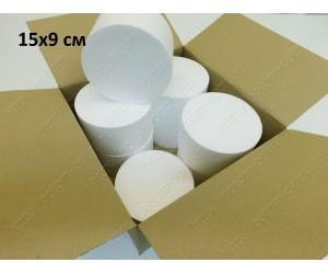 Цилиндр из пенопласта 15х7 см (Кол-во 16 шт)