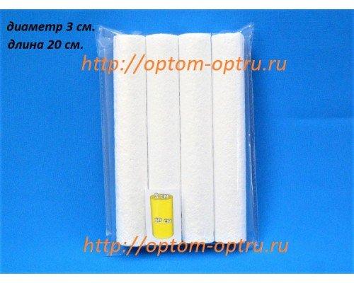 Цилиндры из пенопласта 3 см (длина 20 см). ( 1 упк )