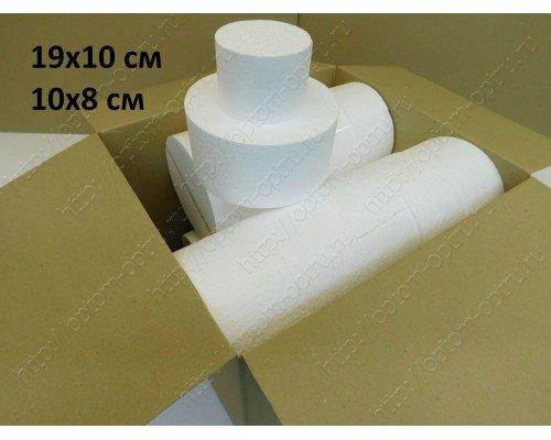 Набор цилиндров 19х10 см (15шт) и 10х8 см (12шт).