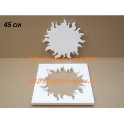 Солнце из пенопласта № 2 ,  45 см х 35 мм. ( 1 шт )