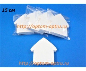 Домик № 1, из пенопласта  15х3 см. ( 1 шт )