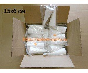 Конус из пенопласта 15х6 см. (2 шт. в упк.). В коробке 35 упк.