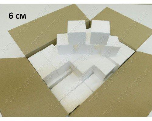 Кубики из пенопласта 6 см. Кол-во 48 шт