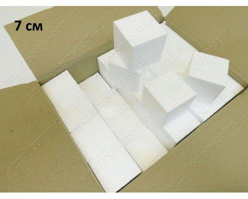 Кубики из пенопласта 7 см. Кол-во 60 шт