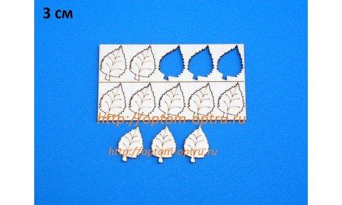 """Заготовка из фанеры 3 мм набор лист """"Берёзовый 3 см."""" Кол-во 1 набор"""
