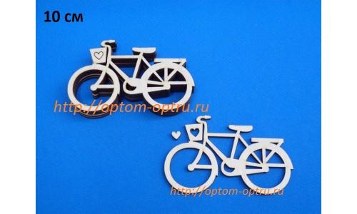 """Заготовка из фанеры 3 мм """"Велосипед 10 см."""" ( 5 шт )"""