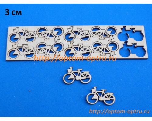 """Заготовка из фанеры 3 мм набор """"Велосипед 3 см."""" Кол-во 5=1 набор"""