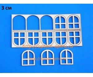 """Заготовки из фанеры 3 мм набор """"Окно 3 см."""" Кол-во 1 набор"""