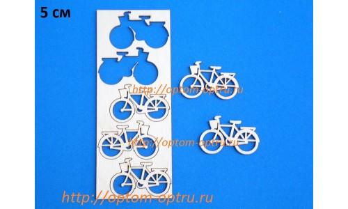 """Заготовка из фанеры 3 мм набор """"Велосипед 5 см."""" Кол-во 1 набор"""