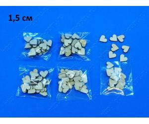 """Заготовка из фанеры 3 мм """"Сердечки маленькие 1,5 см"""" в упаковке 20 шт. ( 1 упк )"""