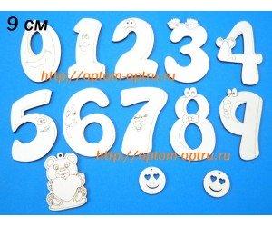 """Заготовка из фанеры набор """"Детские цифры в рамке 9 см."""""""