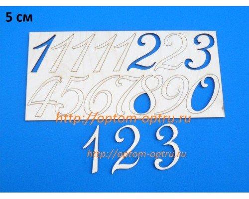 """Заготовка из фанеры """"Набор цифр для часов"""" 5 см. Кол-во 5 наборов"""