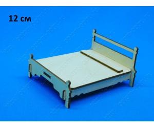 """Заготовка из фанеры 3 мм """"Кровать 12 см."""" ( 1 шт )"""
