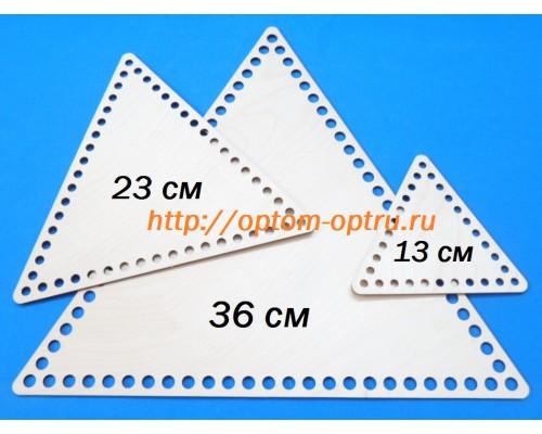 Набор донышки для корзин треугольные из фанеры