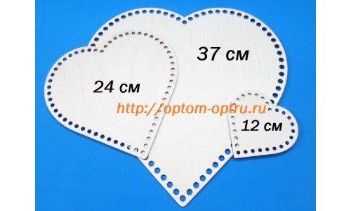 """Набор донышки для корзин из фанеры 3 мм """"сердца"""". ( 1 набор )"""