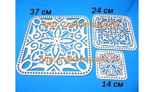 Набор крышки для корзин квадратные из фанеры