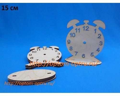 """Заготовка из фанеры 3 мм часы """"Будильник №2 15 см."""" ( 1 шт.)"""