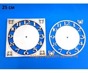 """Заготовка из фанеры 3 мм часы """"С арабскими цифрами"""" 24 см. ( 1 шт )"""