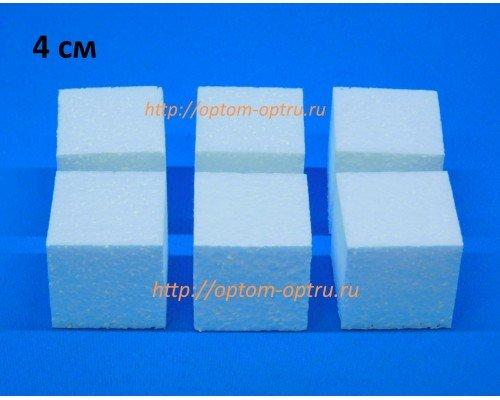 Кубики из пенопласта 4 см. Кол-во 6 шт