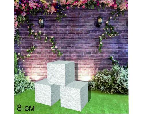 кубики из пенопласта 8 см. (в упк 4 шт)
